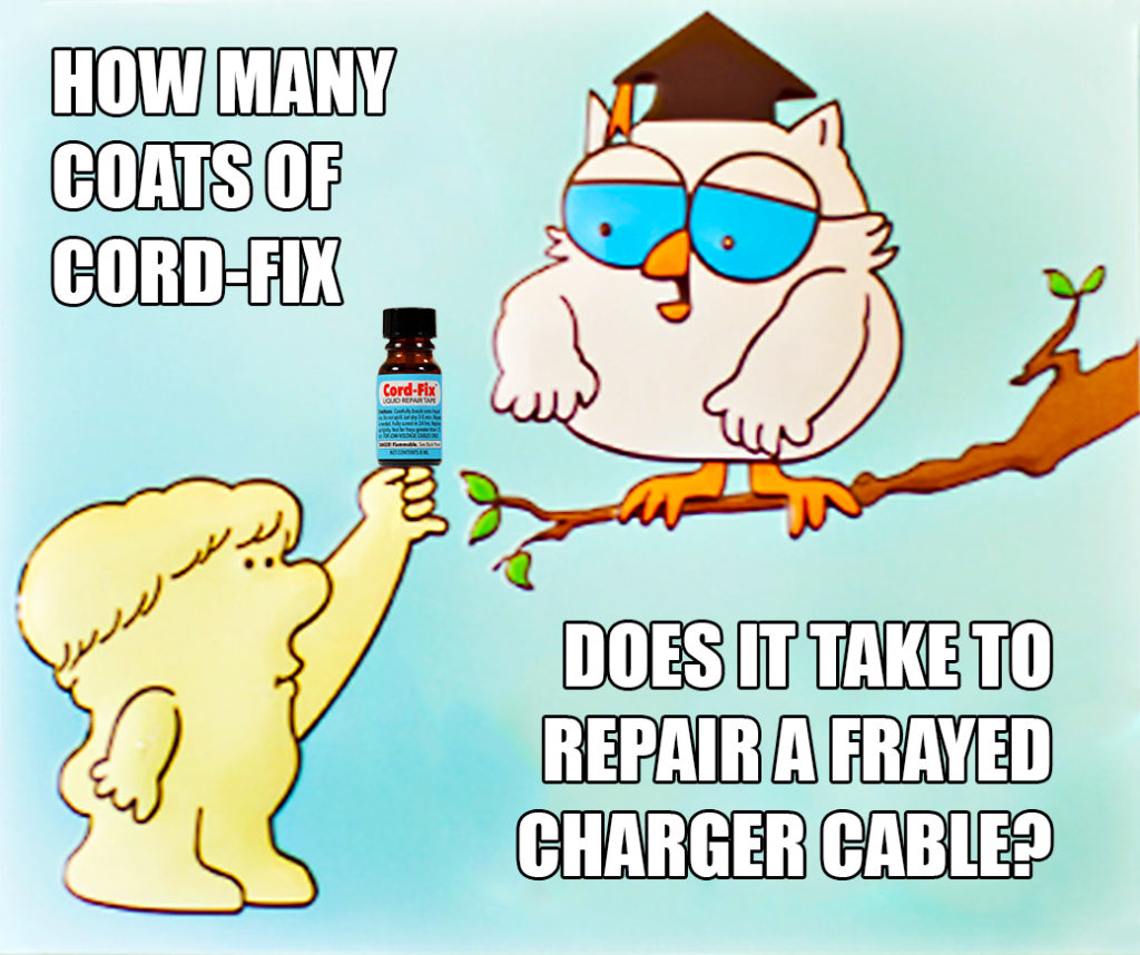 Professor Owl knows Cord-Fix can repair your frayed Lightning and MagSafe cables